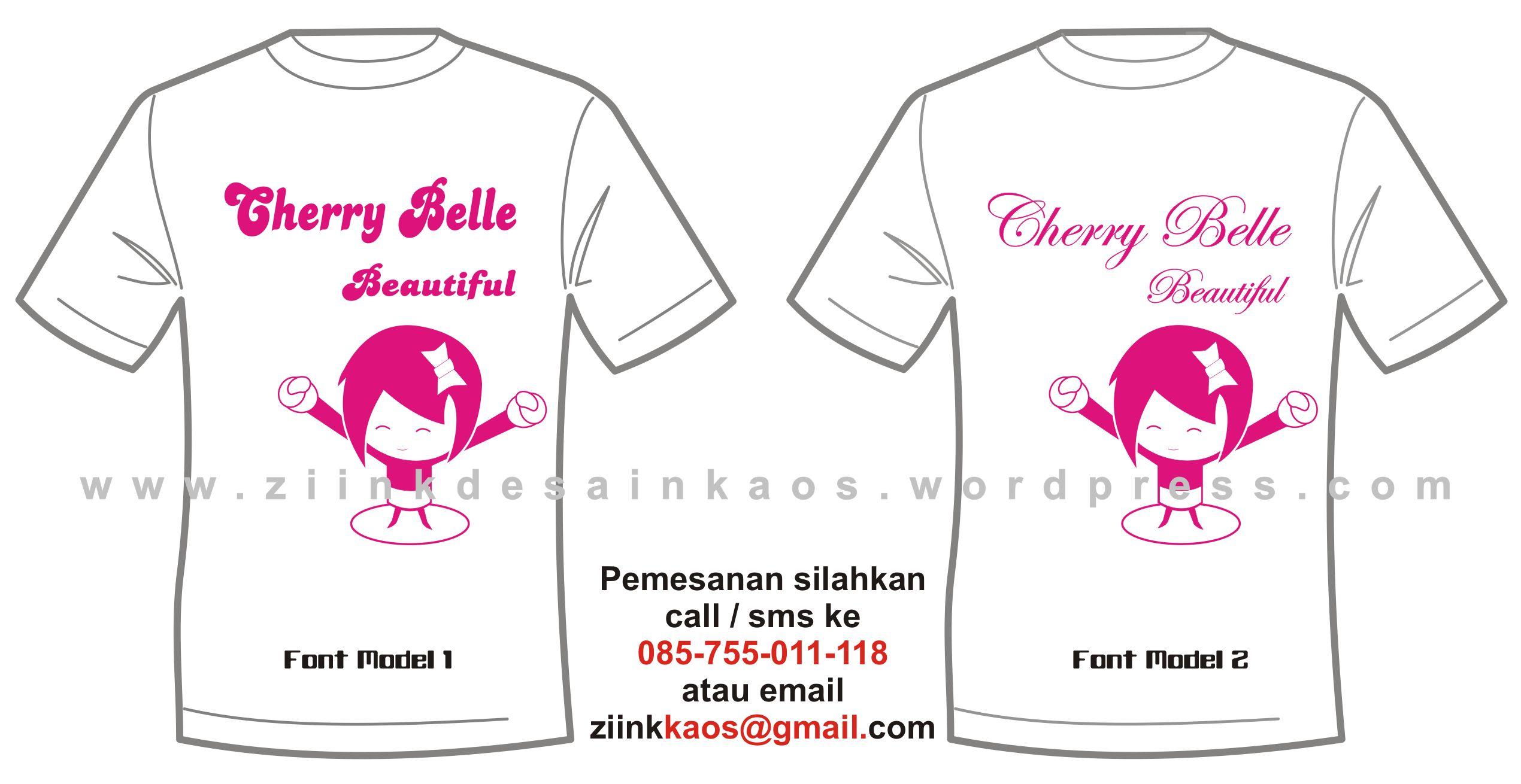 Kaos Cherry Belle Ziink Kaos Online WordPress Version