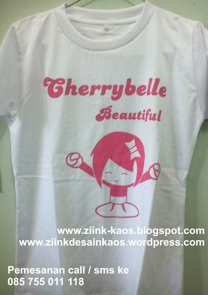 Kaos Lucu Chibi Cherry Belle